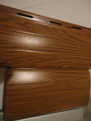 Persiana cortina de aluminio inyectado simil madera 1195 for Cotizacion aluminio argentina