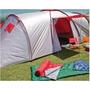Carpa Camping 6/7/8 Pax Aluminizada 2 Hab.+ Comedor/hall