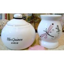 Souvenirs Mates Personalizados De Ceramica