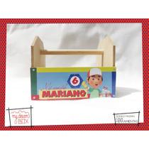 Caja Personalizada Madera 8x10cm2 Souvenirs Handy Manny Obra