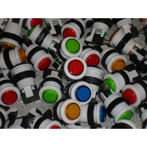 Botones Para Arcades O Mame Con Microswicht C/u