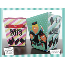 Souvenirs Personalizados Cajas Fiesta Egresados Recibida