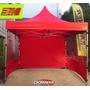 Carpa Plegable 3h 3x3 Hierro Gazebo Estructural Playa Moto