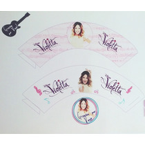 Cupcake Wrapper + Topper Personalizados Violetta Sakura