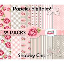 Kit Imprimible Papeles Digitales Shabby Chic (+600 Papeles)