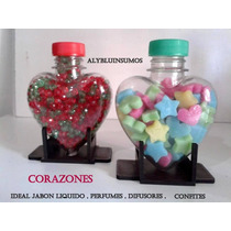 Envases Corazon 125cc Ideal Souvenirs 10 X $