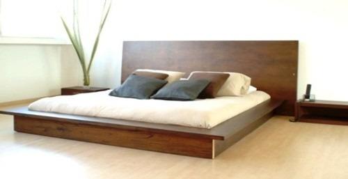 Cama  Respaldo  Juego De Dormito Modelo Cluya  Muebles Jt (2 Plazas