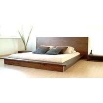 Cama - Respaldo - Juego De Dormito Modelo Cluya - Muebles Jt