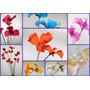 Lilios Ramos De Mimbre Con 12 Flores Foami En 2 Alturas