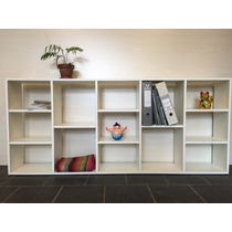 Biblioteca - Cubos - Divisor Horizontal Melamina Blanco 18mm