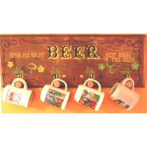 Exhibidor Para Chops De Cerveza Perchero En Madera Y Corcho