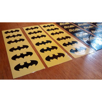 Stickers Batman Autoadhesivos Calcos Con Formas Pack X 24