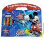 Disney Set Actividades Libro Para Pintar + 12 Lápices Sticke