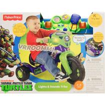 Fisher Price Ninja Turtles Lights And Sounds Trike Triciclo