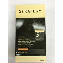 Strategy Negro Shampoo Colorante Para Hombres - Tapa Canas