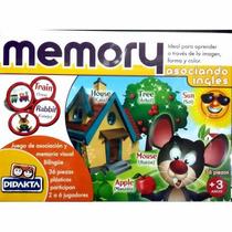 Memory Asociando Ingles Fichas Plasticas Didakta
