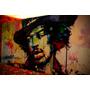 Set De Cuadros Jimy Hendrix. Políptico. Música Y Decoración