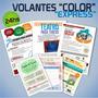 Volantes A Color X 1000 Unidades - En 24 Hs - 10 X 15 Cm