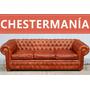 Sillon Chesterfield Sofa Chester De Cuero Vacuno Original