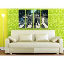 The Beatles Abbey Road - Impreso En Tela Canvas 70 X 100 Cm