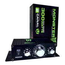 Potencia Monster 300w Mosfet 2ch Ideal Motos! Pa Electronics