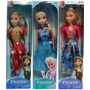 Frozen La Pelicula Elsa Anna Muñecas Articuladas Grandes