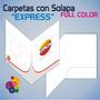 Carpetas Presentación Full Color C/ Solapa A4 Laminadas X 10