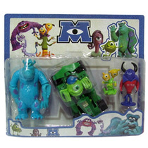 Monster University Coleccion Personajes X4 Grandes Vehiculo