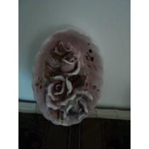 Adorno Colgante Ceramica Rosas Hermoso