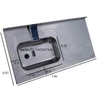 Mesada Johnson Acero 430 140x61cm Bacha Simple De 52x32x13cm