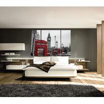 Bastidores Tripticos Londres 120x80 En Tela Canvas