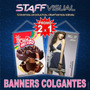 Banners Colgantes 90x60 Cm. Promo 2x1 Ploteos Gigantografías