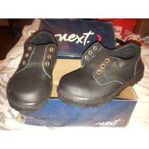 Zapatos Niño Chico Tipo Colegial Cuero Colegio