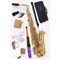 Saxo Alto Heinmond Gold Premium + Dvd Aprendizaje Y Mas