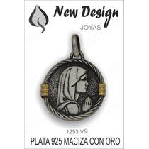 Medalla Colgante Religiosa Variadas En Plata 925 Y Oro