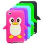 Funda Silicona Pinguino Para Ipod Touch 4 3d Relieve + Film
