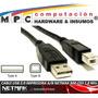 Cable Usb 2.0 Impresora Scanner A/b Netmak Nm-c03 1.8 Mts