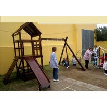 Hamacas.tobogan.mangrullo De Madera.colegios.jardines