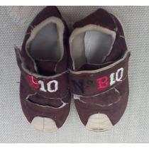 Zapatillas Marrones Con Velcro