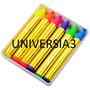 Maquillaje Artistico 6 Barra Labial Crayon Cotillon Luminoso