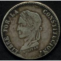 Guardia Imp. Bolivia, Republica 4 Soles 1859 Fj Plata