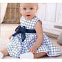 Vestido Con Moño - Beba Verano Algodon Manga Corta