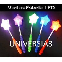 3 Varitas Estrellas Leds Cotillon Luminoso Carioca Fiesta !