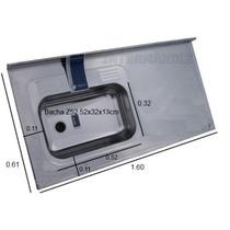 Mesada Johnson Acero 430 160x61cm Bacha Simple De 52x32x13cm