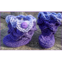 Botitas, Botas Para Los Chiquis. Pantuflas Tejidas Crochet