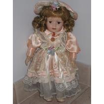 Muñeca De Porcelana Con Base