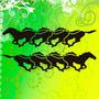 Calcomania Caballos Mustang