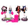 Monster High 4 Figuras Macizas P/torta Cumpleaños En Blister