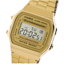 Reloj Casio A168wg Vintage Gold Pila 7 Años Cronometro Wr