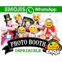 Kit Imprimible Photo Booth Emojis Emoticon